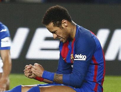 Neymar en el partido ante el Leganés