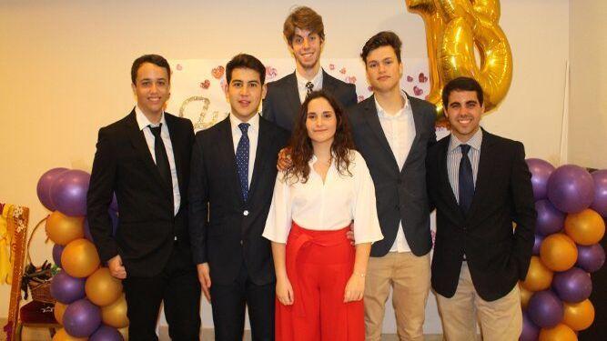 Antonio Julio Ouviña, Aarón Berchid, Antonio José Aragón, Aurora Moreno, Abraham Ordóñez y Alberto Romero.