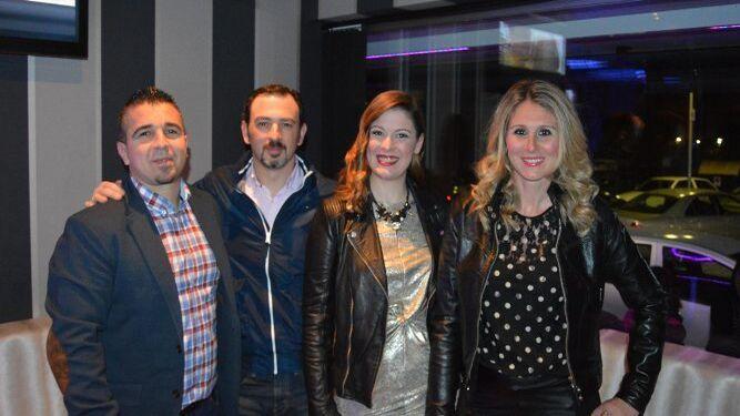 David Almadara, Marcos Antonio Rosa, Marta Rueda y Sandra García.