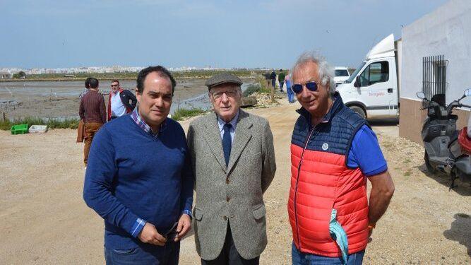 David Fernández, José Pedro Pérez-Llorca y el príncipe iraní Chahram Pahlavi.
