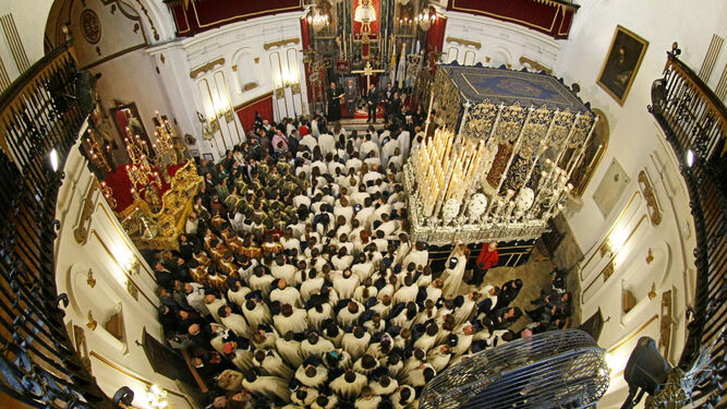 La iglesia de La Palma en 2010, un ejemplo de cofradía que se ve obligada a suspender su salida procesional.