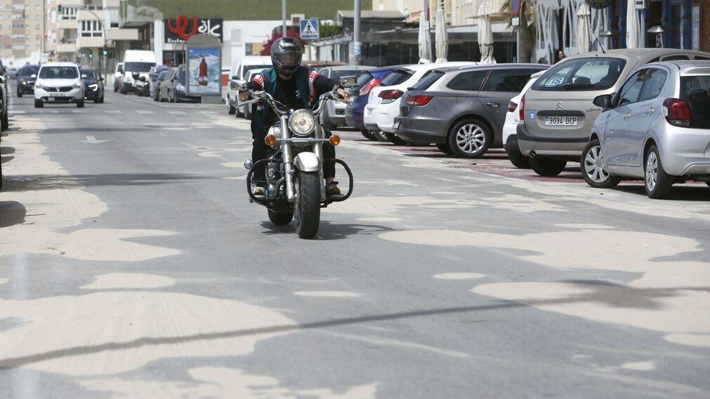 Efectos del temporal de levante en Cádiz