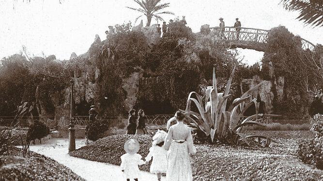 El parque Genovés,   el pulmón verde de  la capital gaditana