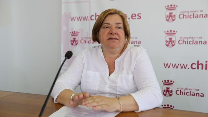 Cándida Verdier (PSOE), ayer en la sala de prensa del Ayuntamiento.