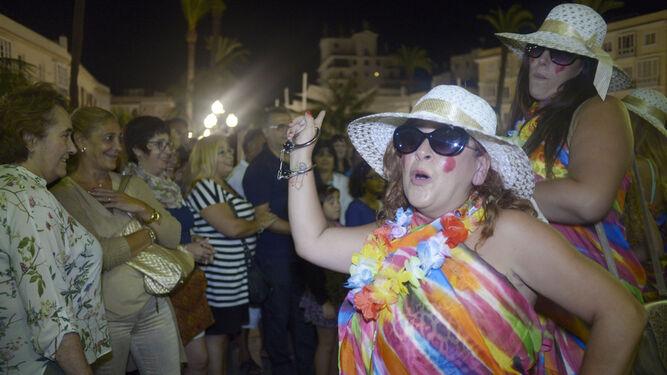 Chirigota en el Carnaval de Verano.