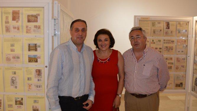 Manuel Manzorro, Oliva Torrecilla y Miguel González Saucedo.