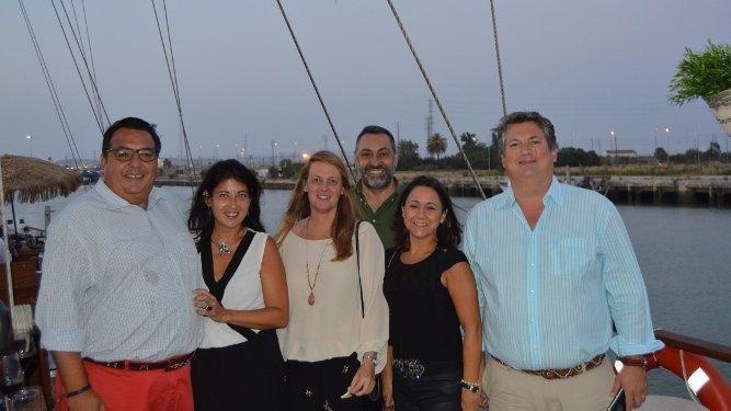 Chiqui Pastoriza, Eizabeth Guerecaechevarría, Angela Benavente, Diego Joly, Pili  Sánchez Villegas y Fonsi Domecq Vela-Barca.
