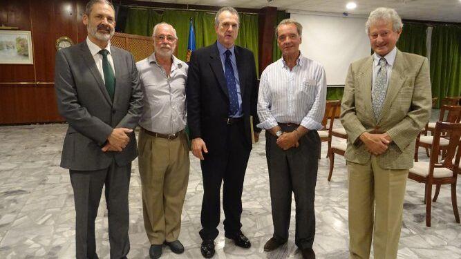 Vicente Ortells, José María Lavilla, Luis Mollá, Fernando Gea y Valentín Graña.