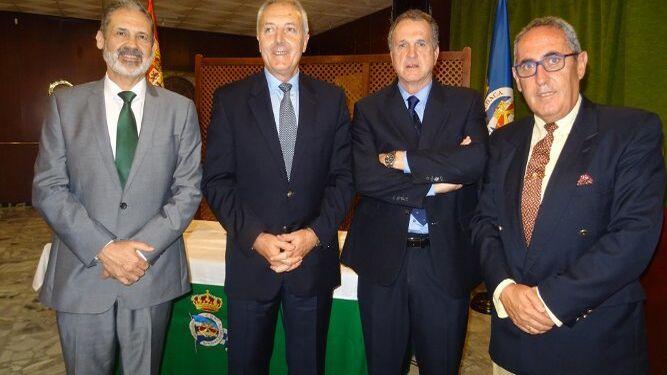 Vicente Ortells, Jesús Manuel Vicente Fernández, el conferenciante Luis Mollá y Javier Delgado.