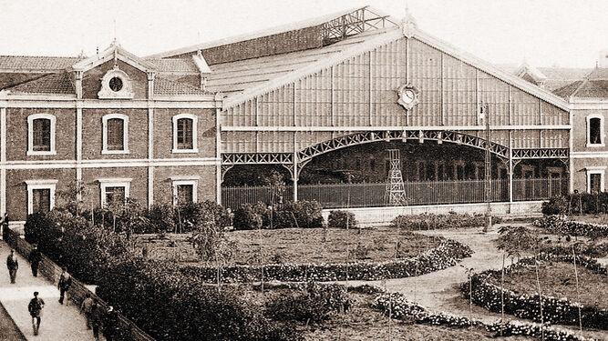 La estación de Cádiz, a principios del siglo XX.