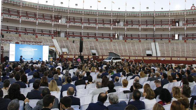 La centenaria Plaza de Toros de El Puerto fue el singular escenario para la cita de los empresarios de toda la provincia.