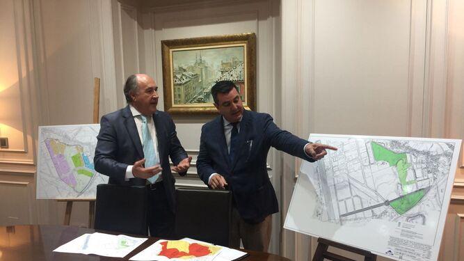 José Ignacio Landaluce y Alfonso Pozuelo presentaron ayer las novedades del proyecto.