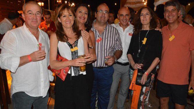 Jesús Gómez, Alicia Leonsegui, Maite Sampalo, Antonio Estudillo, José Antonio Rosado, María Jesús Montalvo y Carlos López Pelayo.