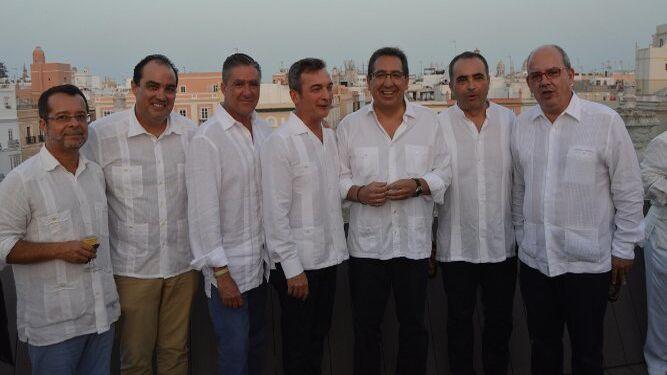 Juan Manuel Marqués, David Fernández, Manuel Estrella, Eduardo González Mazo, Antonio Pulido, Manuel Cotorruelo y Javier Sánchez Rojas.