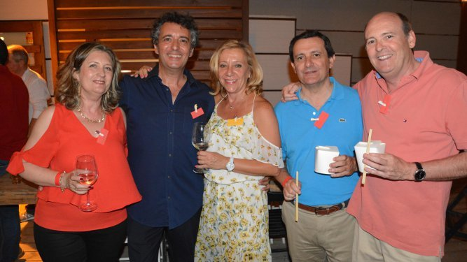Trinidad Braza, Pablo Braza, Rosario Jiménez, Joaquín Docampo y Juan Grosso