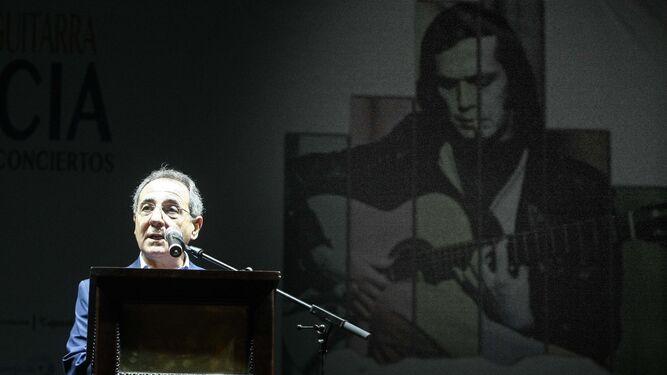 Manuel Martín Martín, en el arranque del Encuentro de Guitarra.
