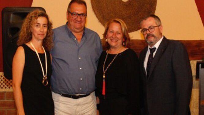 María José Cumbrera, José Luis Navarro, Lourdes Marín y Lorenzo Rus, tras finalizar el acto.