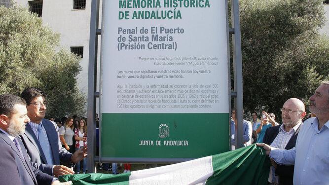 Una imagen del acto en el que se designó el antiguo Penal como Lugar de Memoria Histórica, en 2014.