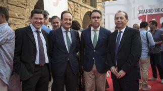 Juan Antonio Romero, Rafael Bravo, Rafael Navas y José Antonio Carrizosa.