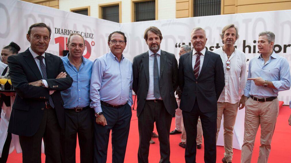 Juan Expósito, José Ferradans, Luis Núñez, Luis Llerena, Javier Lucero, Ignacio Casas y Quique Varela.