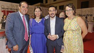 David Fernández, Patricia Cavada, Fernando López Gil y Arantxa Morales.