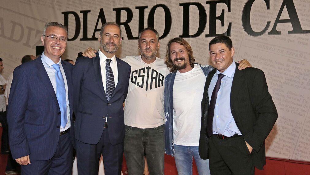 Joaquín Avila, José Antonio Hidalgo, Daniel Rey, Gonzalo Medrano y Juan Antonio Romero.