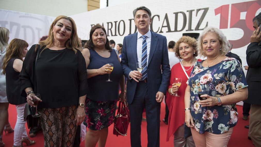 Teresa Blanca, María José Polo, Alberto Ríos, Isabel Periñán y Socorro Vargas.