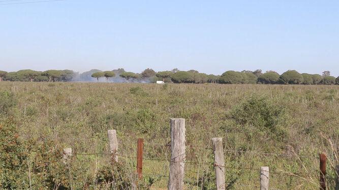 Terrenos en los que estaba previsto celebrar la edición de este año de Alrumbo, en Chiclana.