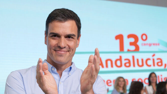 El secretario general del PSOE, Pedro Sánchez, el pasado domingo en Sevilla.
