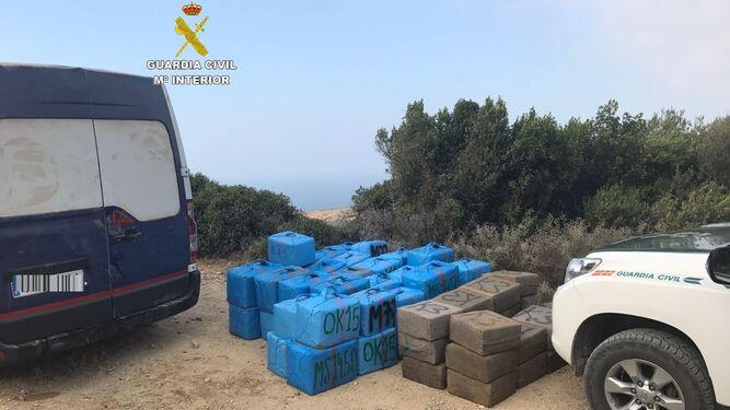 Uno de los últimos alijos intervenidos por la Guardia Civil en Tarifa.