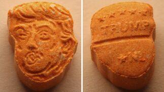 Una de las pastillas aprehendidas por la policía alemana.