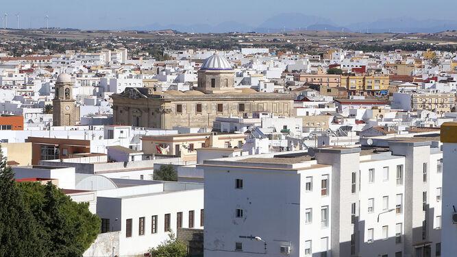 Una vista general del casco antiguo del municipio chiclanero en una imagen de archivo.