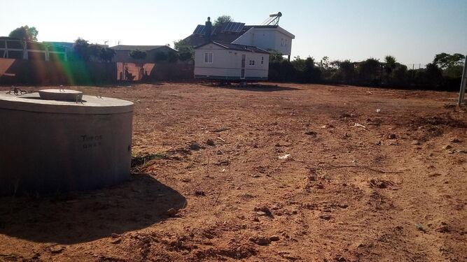 Una de las muchas viviendas prefabricadas que se han colocado en las últimas fechas en la zona de El Palmar.