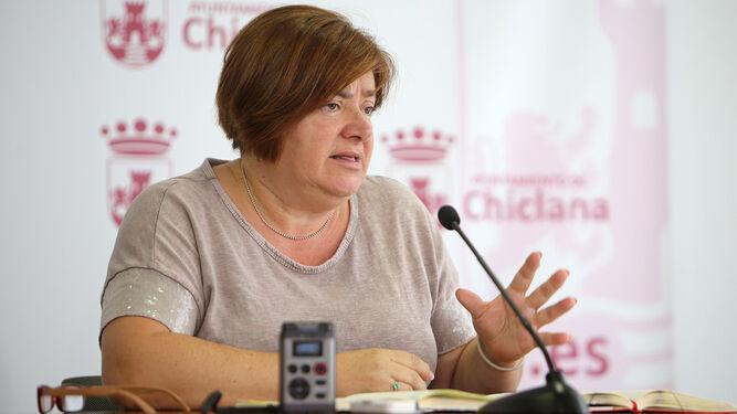 Cándida Verdier, delegada municipal de Vías y Obras.