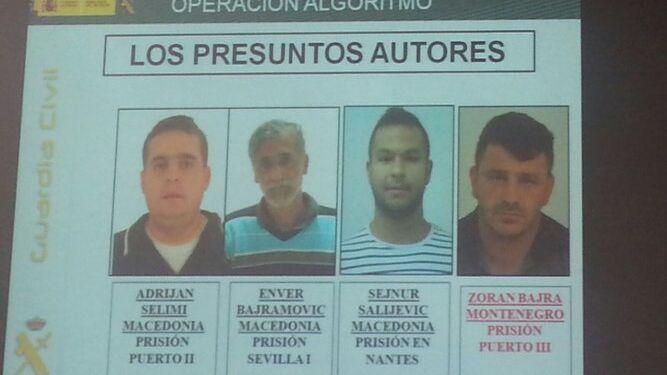 Los presuntos autores del crimen.