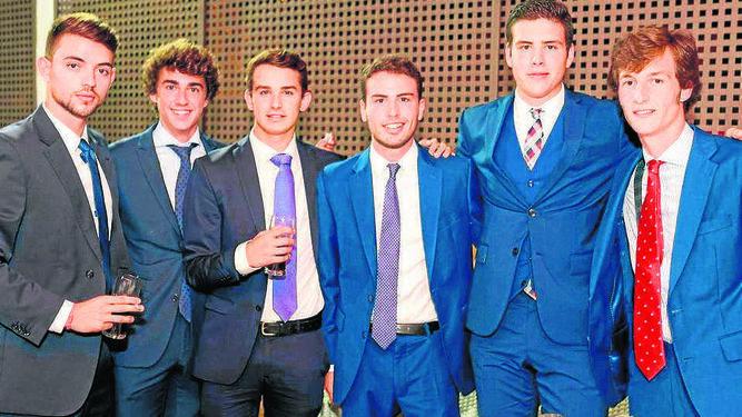 Álvaro Pajares, Jorge Quijano, Arturo Castro, Juan Otero, Carlos Parazuelo y Adolfo Martínez,