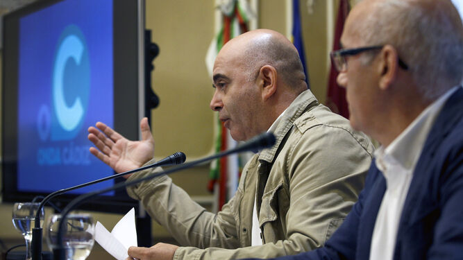 David Navarro, en una rueda de prensa sobre Onda Cádiz.