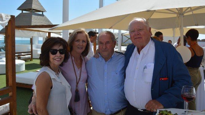 María luisa Montero, Lucía Gutiérrez Cotarelo, Manuel Briole y Jan de Clerck, durante la celebración.