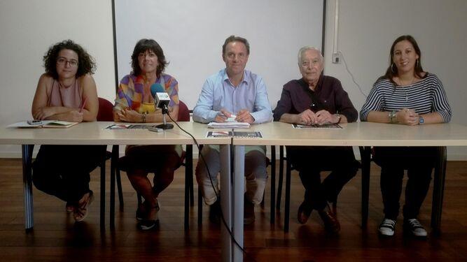 Una imagen de la presentación de las jornadas que tuvo lugar ayer en la sala de prensa del Consistorio portuense.
