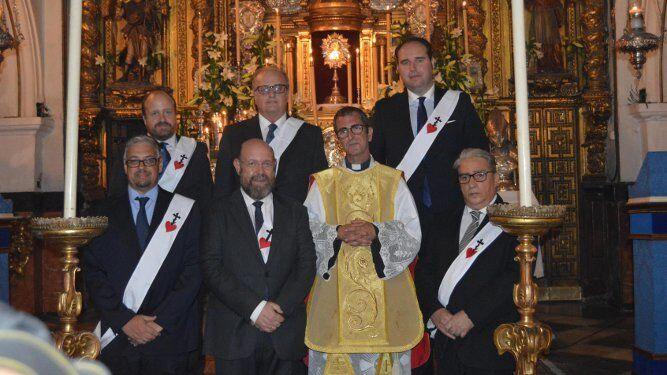 El padre Ortuño, Juan Antonio, Pedro Sánchez , Javier Lacave, Antonio Marín, Francisco Javier Pavón, Manuel Bienvenido y José María Moreno.