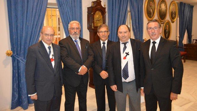 José Caravaca de Coca , Joaquín Fernández Repeto, Emilio Bienvenido, Julio Molina Font y Jacinto Plaza.