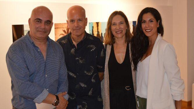 David Navarro, Juan María Rodríguez, Lourdes Acosta y María Rodríguez, durante la inauguración.