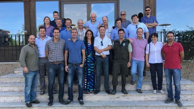El grupo de ingenieros de Montes e ingenieros Técnicos de la provincia de Cádiz durante la celebración de su patrón San Francisco de Asís.