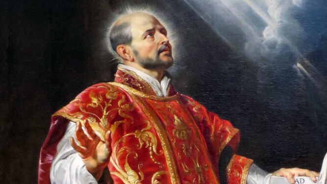 Una imagen del fundador, San Ignacio de Loyola.