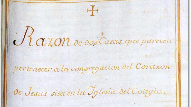 El documento destacado del Archivo se centra en la expulsión de los jesuitas