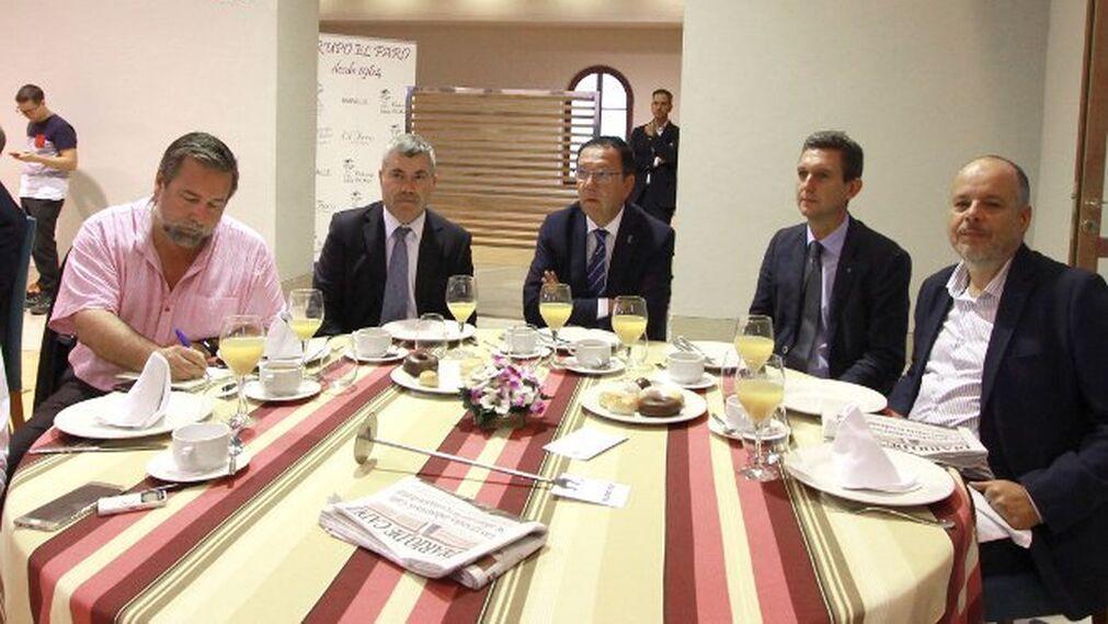 Francisco José Román, Antonio Rivas, Luis Núñez, Miguel Berraquero y Ramón Rodríguez de Trujillo.