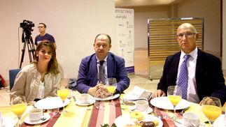 María Loreto Jiménez Mañueco, Emilio de la Cruz y Pedro Agudo.
