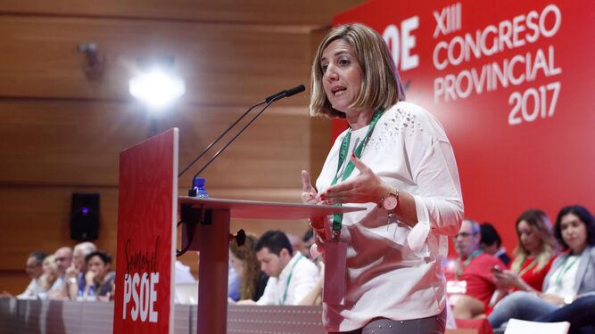 Irene García durante un momento de su intervención.