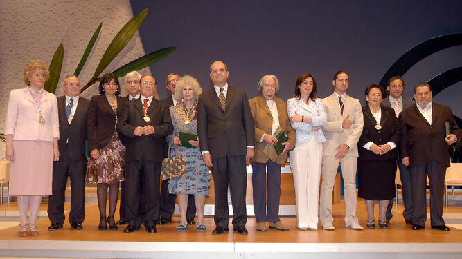 Ceremonia en la que fue galardonada con la medalla de Andalucía.