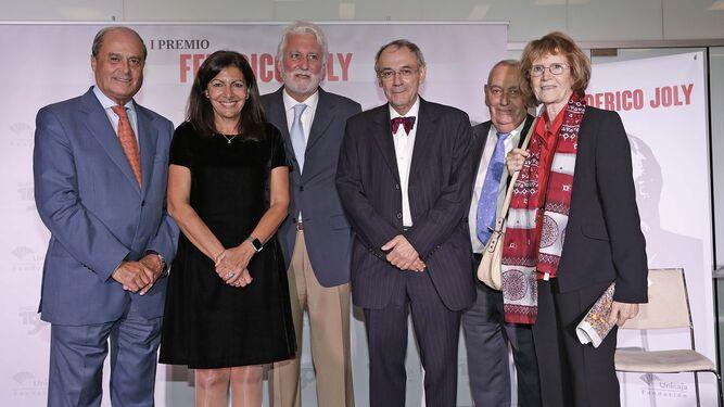 l Anne Hidalgo, Jesús Castiñeira, Salvador Pascual, Ramón Contreras y Monique Guyarde.